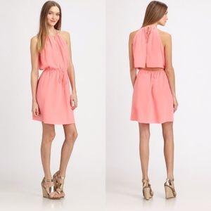 Rebecca Taylor Key Hole Cami Pink Summer Dress